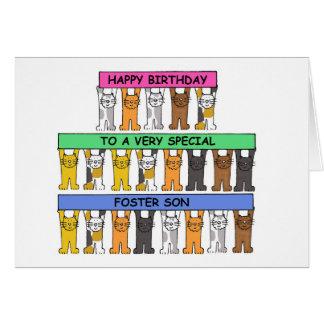 Feliz cumpleaños del hijo adoptivo tarjeta de felicitación