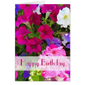 feliz cumpleaños del jardín de flores felicitacion