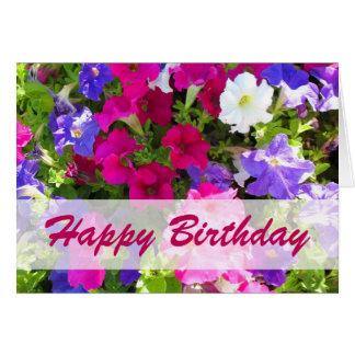 feliz cumpleaños del jardín de flores tarjeta de felicitación