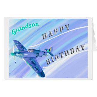 ¡Feliz cumpleaños del nieto…! Tarjeta De Felicitación