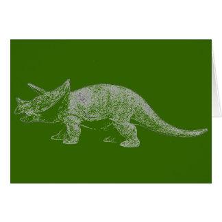 Feliz cumpleaños del Triceratops Tarjeta