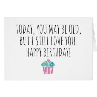 Feliz cumpleaños divertido tarjeta de felicitación