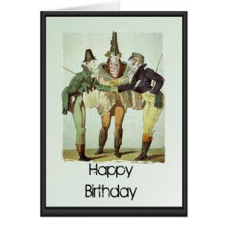 Feliz cumpleaños - el duelo comienza tarjeta de felicitación