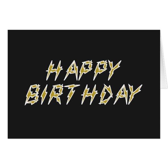 Feliz cumpleaños eléctrico tarjeta de felicitación