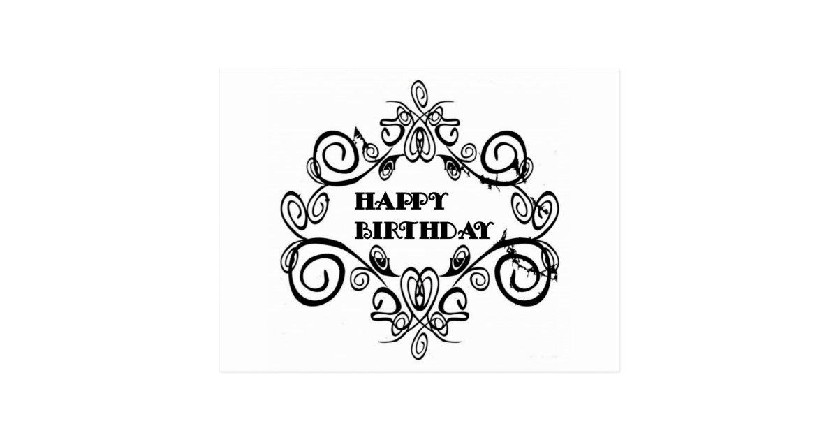 Felicitaciones Cumpleaños Blanco Y Negro