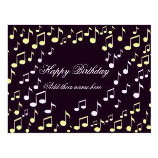 Feliz cumpleaños en song_ tarjetas postales
