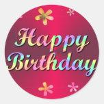 Feliz cumpleaños etiquetas
