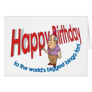 Feliz cumpleaños, fan del bingo tarjeta de felicitación