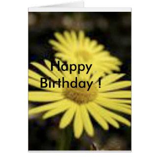¡Feliz cumpleaños! Flor bonita Tarjeta De Felicitación