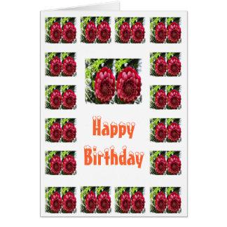 Feliz cumpleaños - flor sensual felicitación