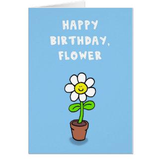 Feliz cumpleaños, flor tarjeta de felicitación