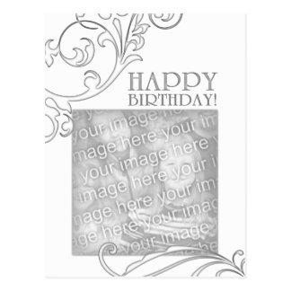 feliz cumpleaños (flourish elegante) postal