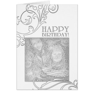 feliz cumpleaños (flourish elegante) tarjetas