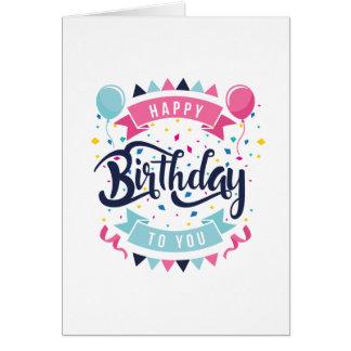 Feliz cumpleaños foto opcional de la tarjeta de