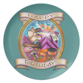 Feliz cumpleaños - Frieda ata la placa cobrable Plato