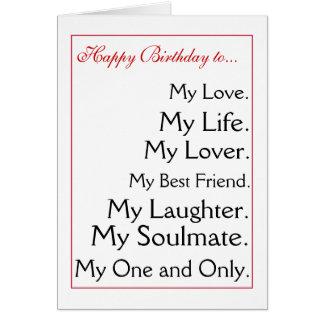 Feliz cumpleaños girlfriend.boyfriend, esposa, mar felicitaciones