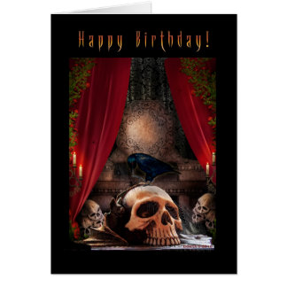 Feliz cumpleaños - guarida de los cuervos - tarjeta de felicitación