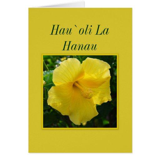 Feliz cumpleaños hawaiano -- La Hanau del oli del Tarjeta De Felicitación