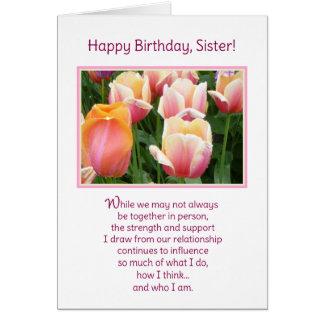 ¡Feliz cumpleaños, hermana! Felicitación
