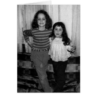 Feliz cumpleaños - hermana tarjeta de felicitación