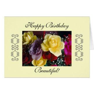 ¡Feliz cumpleaños hermoso! Felicitación