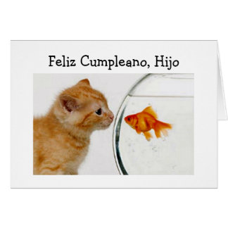 FELIZ CUMPLEANOS, HIJO DEL CUMPLEAÑOS DE HIJO=HAPP TARJETA