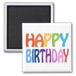 Feliz cumpleaños - imán colorido feliz