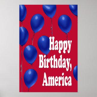 Feliz cumpleaños, impresión de América