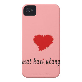 feliz cumpleaños Indonesia Case-Mate iPhone 4 Coberturas