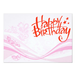 feliz cumpleaños invitación 12,7 x 17,8 cm