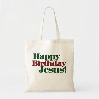 Feliz cumpleaños Jesús es navidad Bolsa