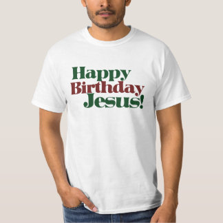 Feliz cumpleaños Jesús es navidad Camisetas