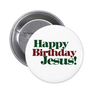 Feliz cumpleaños Jesús es navidad Chapa Redonda 5 Cm