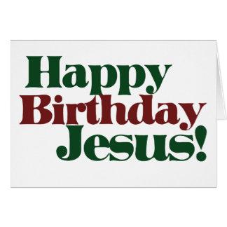 Feliz cumpleaños Jesús es navidad Tarjeta