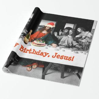 ¡Feliz cumpleaños, Jesús! Navidad divertido Papel De Regalo