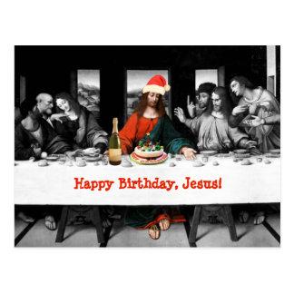 ¡Feliz cumpleaños, Jesús! Navidad divertido Postal