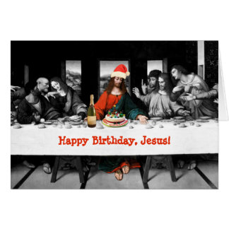 ¡Feliz cumpleaños, Jesús! Navidad divertido Tarjeta