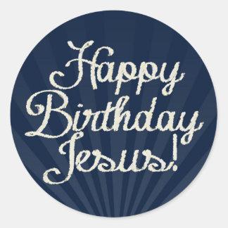 Feliz cumpleaños Jesús Etiqueta Redonda
