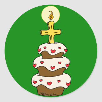 Feliz cumpleaños Jesús Pegatinas Redondas