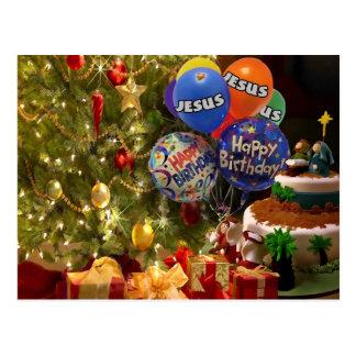 Feliz cumpleaños Jesús, tarjeta de Navidad