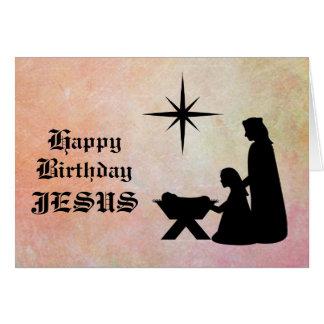 Feliz cumpleaños Jesús - tarjeta de Navidad de la