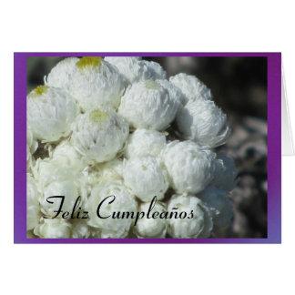 Feliz Cumpleaños - Las Flores Blancas Tarjeta De Felicitación