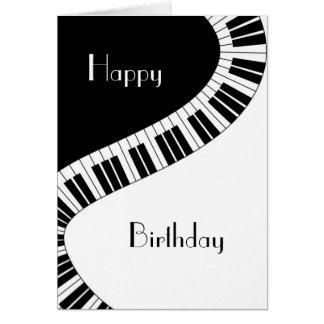 Feliz cumpleaños - llaves curvadas onduladas del tarjeta