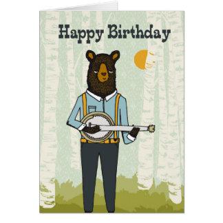 Feliz cumpleaños - lleve el jugar de la tarjeta de