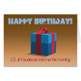 Feliz cumpleaños… LOL JK Felicitación