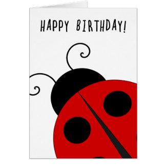 Feliz cumpleaños, mariquita gigante tarjeta de felicitación