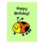 ¡Feliz cumpleaños! (mariquita) Postal