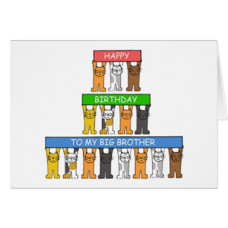 Feliz cumpleaños mayor de hermano tarjeta de felicitación