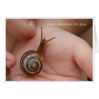 Feliz cumpleaños, mi hijo tarjeta de felicitación