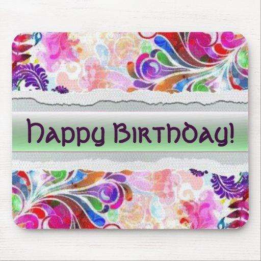 ¡Feliz cumpleaños!  Mousepad Tapete De Ratones